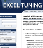 Website des Excel Tuning Ticker