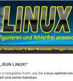 "Relaunch der Internetseite ""RUN LINUX!"""