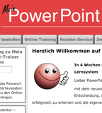 "Website von ""Mein PowerPoint-Trainer online"""